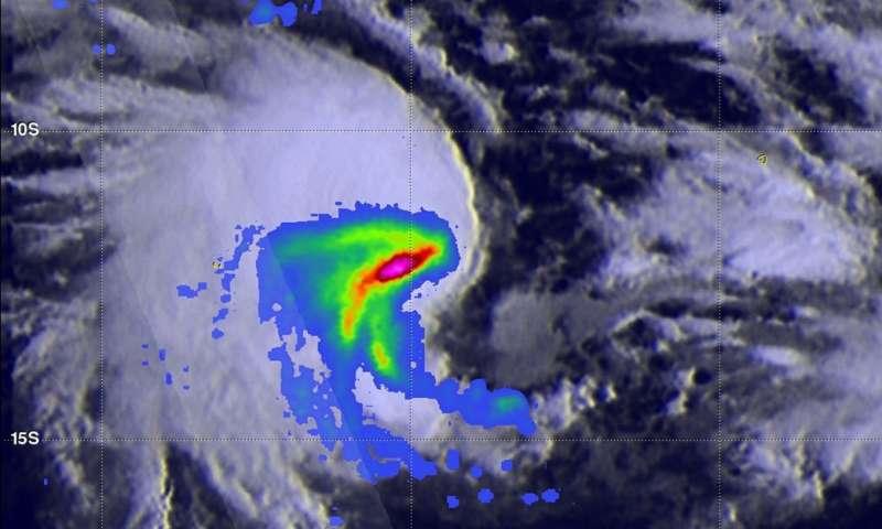 NASA sees Tropical Cyclone Caleb s heaviest rainfall