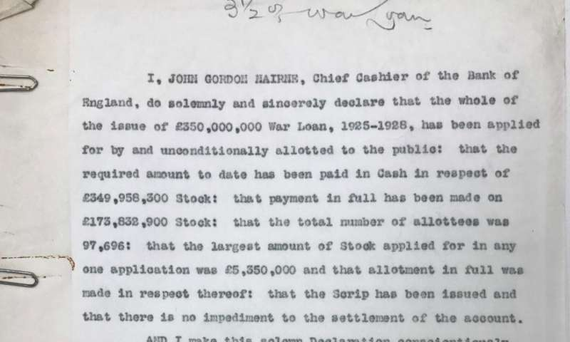 New research reveals failure of World War One loan scheme
