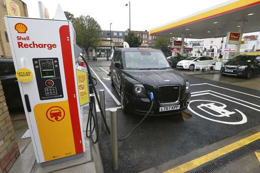 Shell opens its first electric vehicle charging points