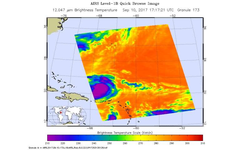 NASA analyzes Hurricane Jose's hidden cloud-filled eye