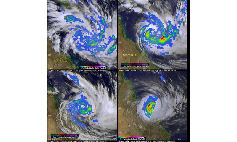 NASA examines the rainfall left behind from ex-Tropical Cyclone Debbie