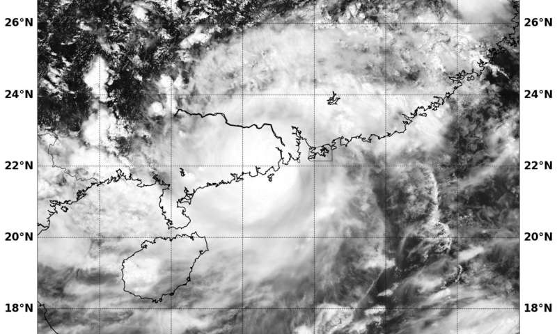 NASA's Aqua Satellite spots Typhoon Hato's Landfall in China