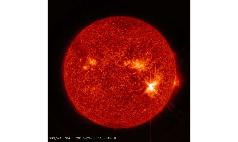 Active region on sun continues to emit solar flares