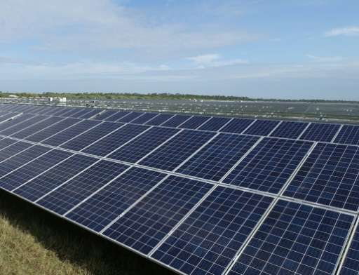 A key feature of Babcock Ranch, an eco-friendly city of the future in Florida, is the solar farm which provides enough to offset