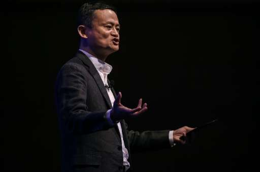 Alibaba founder Jack Ma speaks during the launch of Malaysia's 'digital free trade zone' in Kuala Lumpur on March 22, 2017, with