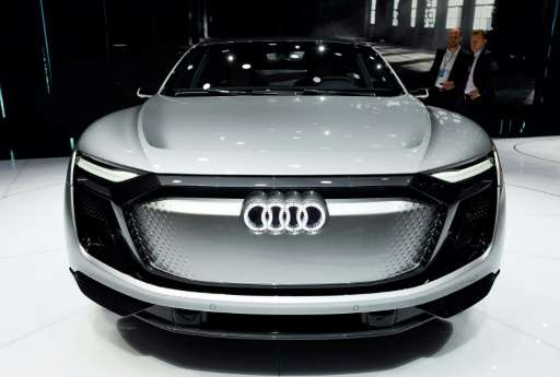 An Audi e-tron Sportback concept car at the Shanghai Auto Show on April 20, 2017. China's electric-car market is already the wor