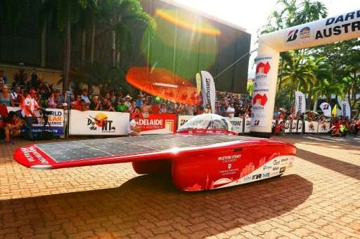 An epic 3,000-kilometre (1,860-mile) solar car race across the desert heart of Australia designed to showcase new technology tha