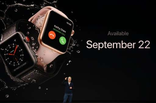 Apple shares fell ahead of its release this week of an updated smartwatch and new iPhone 8 models, with a high-end iPhone X set