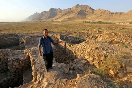 Are these stones in Iraq's autonomous Kurdish region what remains of a city founded in 331 BC by Alexander the Great?