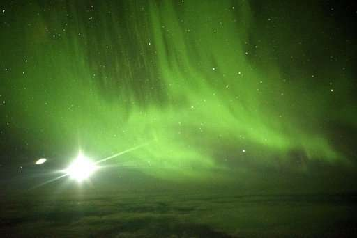 A round-trip flight just for the view -- the Southern Lights