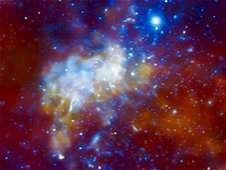 Asymmetric structure in the supermassive black hole at the galaxy's center