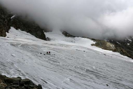At another glacier in the Valais region in July mountaineers discovered the remains of a German backpacker, who died 30 years ag
