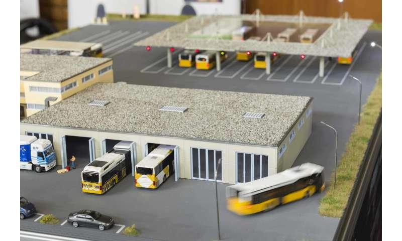 Autonomous driving at the bus depot