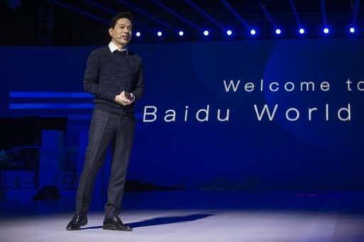 Baidu co-founder and chief executive Robin Li speaks during the annual Baidu World Technology Conference