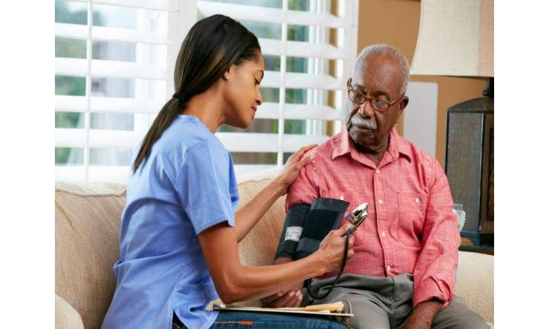Benefits for intensive BP lowering in older HTN patients