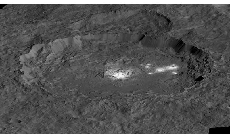 Bright areas on Ceres suggest geologic activity