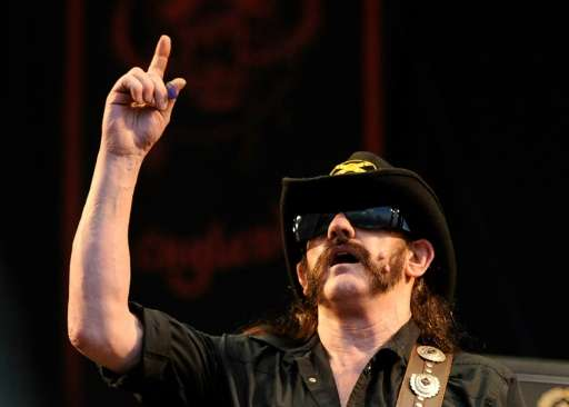 British heavy metal band Motorhead lead singer Ian 'Lemmy' Kilmister performs during a music festival near Madrid, in 2010
