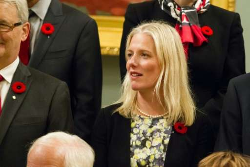 "Catherine McKenna, pictured here in 2015, has urged governments to ""keep working together""on climate"