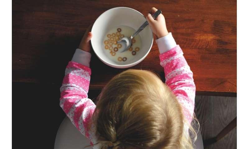 child eating