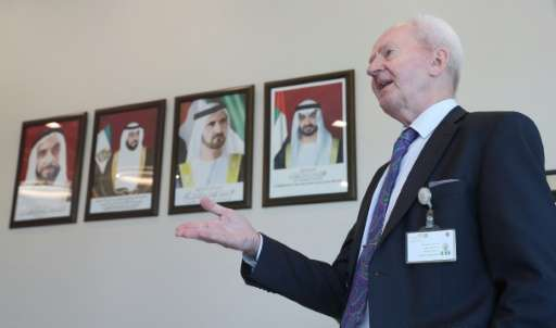 Christer Viktorsson, the Swedish-Finnish director general of the UAE's Federal Authority for Nuclear Regulation (FANR), gestures