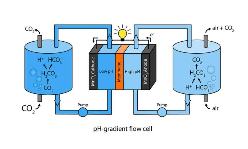 CO2 flow cell
