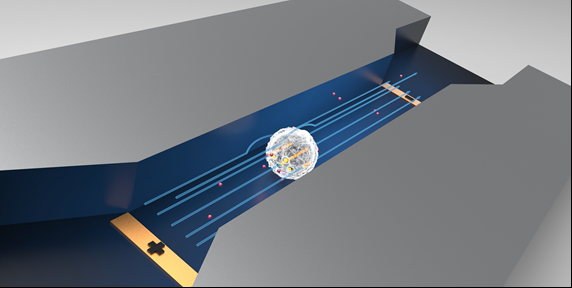 Continuous-flow, electrically-triggered, single cell-level electroporation