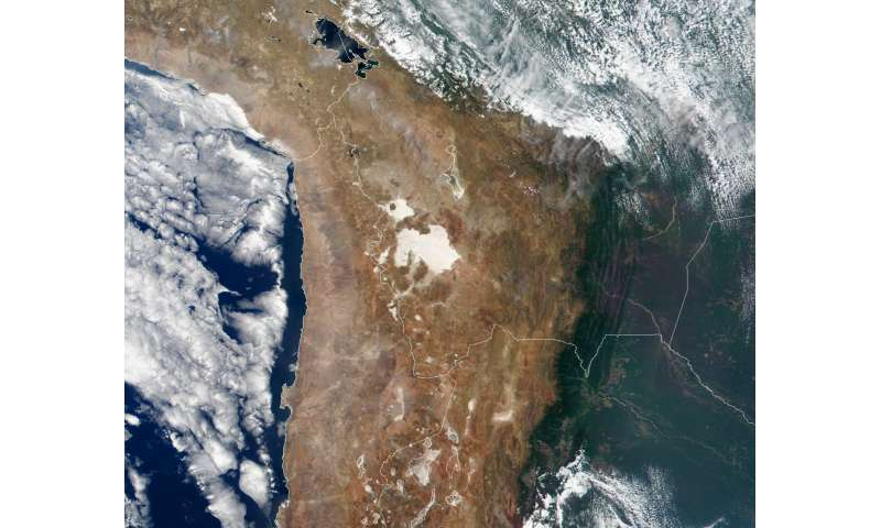 Data mining finds more than expected beneath Andean Plateau