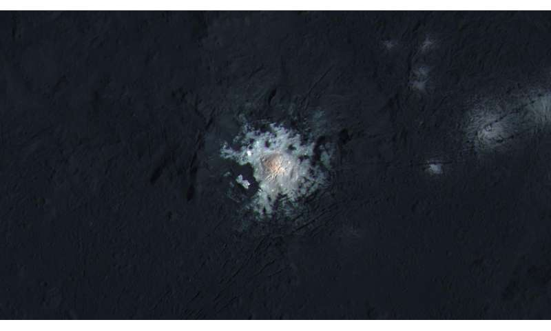 Dawn identifies age of Ceres' brightest area