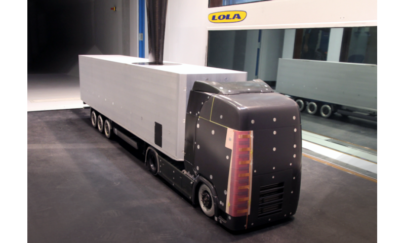 Design could save truck fuel with turbulence-cutting electric wind generators