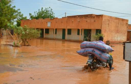 Destructive storms in the Sahel region have grown in frequency from about 24 per rainy season in the early 1980s, to about 81 to