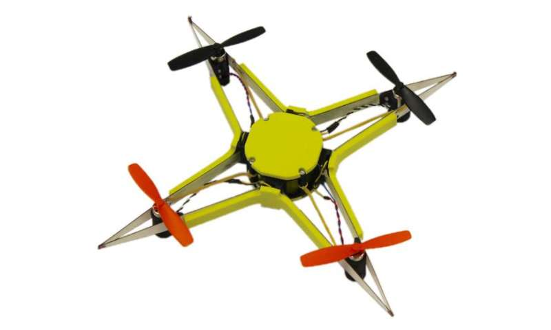 Drone approach to survive collision: Be flexible, be rigid, be insect