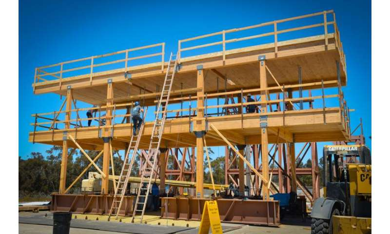 Earthquake shake tests toward 20-story earthquake-safe buildings made from wood
