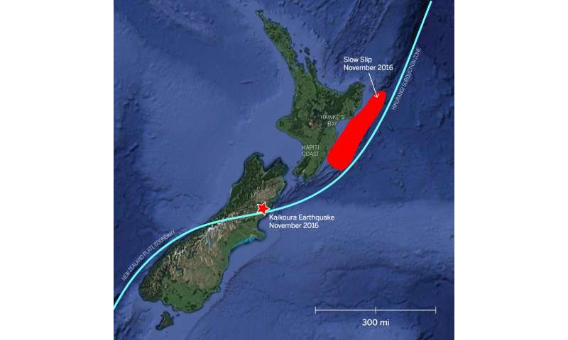Earthquake triggers 'slow motion' quakes in New Zealand