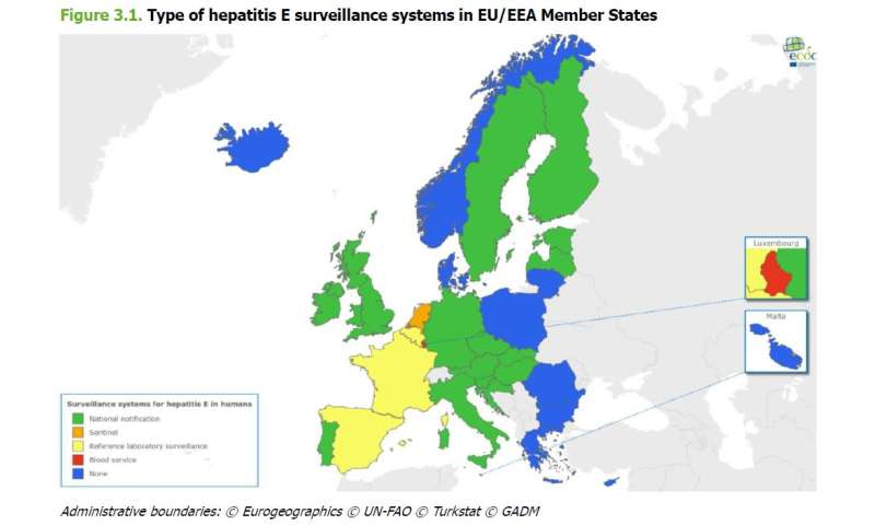 ECDC report: 10-fold increase of hepatitis E cases in the EU/EEA between 2005 and 2015