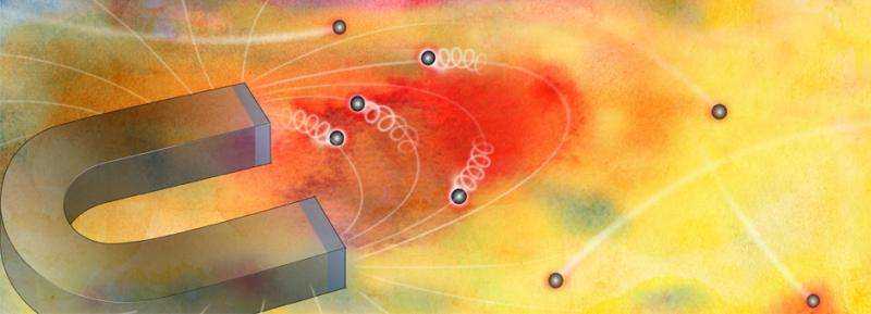 """Electrons """"puddle"""" under high magnetic fields, study reveals"""
