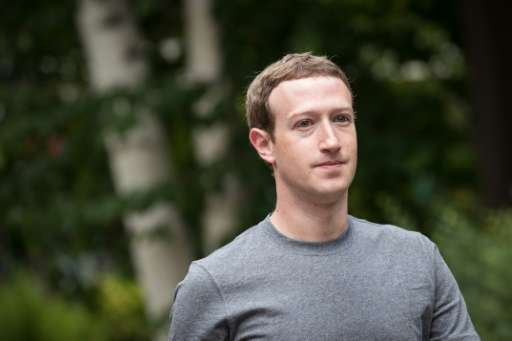 (FILES) This file photo taken on July 13, 2017 shows Mark Zuckerberg, chief executive officer and founder of Facebook Inc., atte