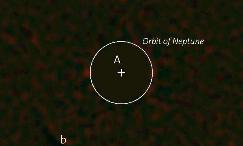 First discovery of an exoplanet with SPHERE/VLT