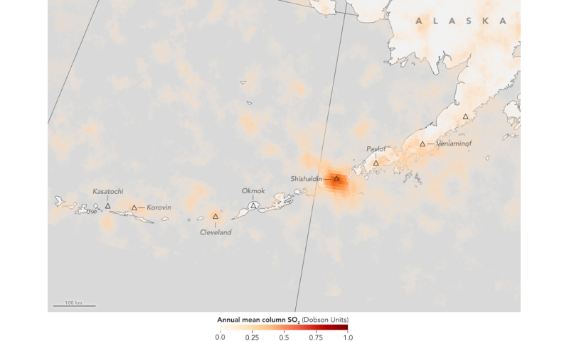 First global maps of volcanic emissions use NASA satellite data