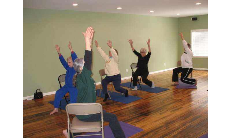 First study to show chair yoga as effective alternative treatment for osteoarthritis