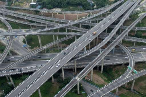 Five suspended levels and cars going in all directions: a new highway interchange is driving motorists to tears, as they find th