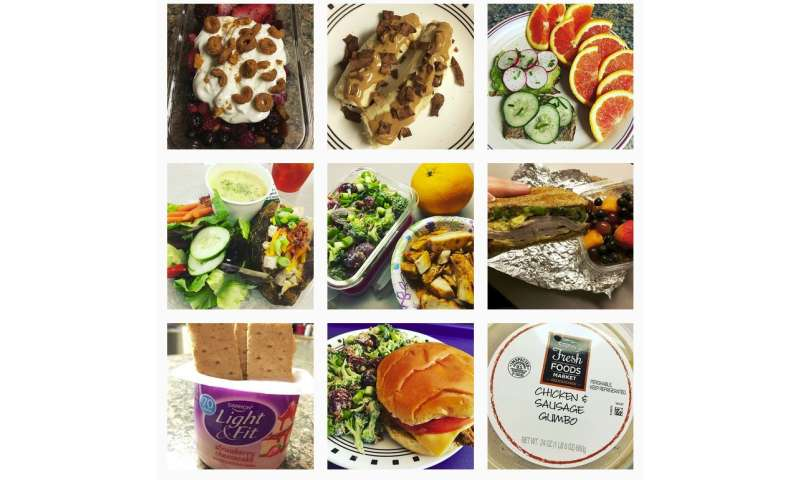 Food photos help Instagram users with healthy eating