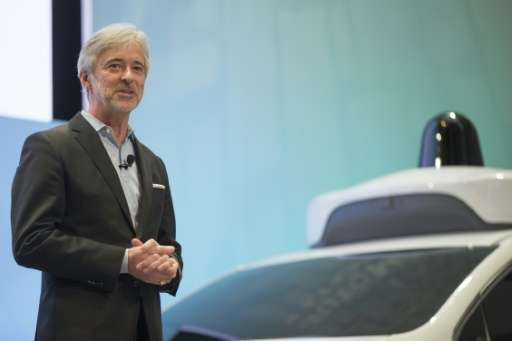 Former Google car division Waymo, whose CEO John Krafcik is seen at the 2017 North American International Auto Show in Detroit,