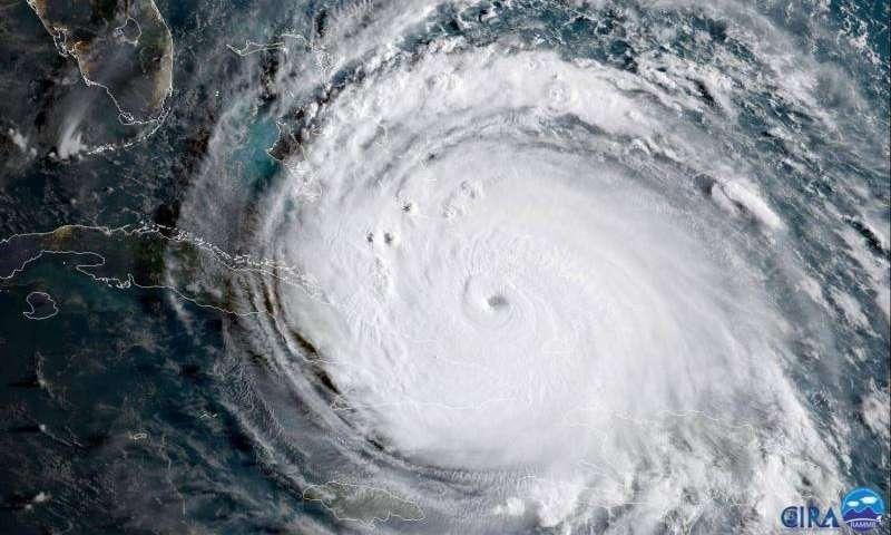 Geocolor image of Hurricane Irma