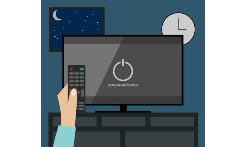 Getting to bed on time requires self-control with the remote control