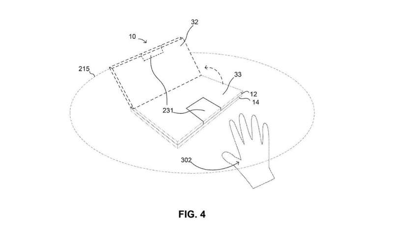 Google patent talk: laptop hinge and auto-align display convenience