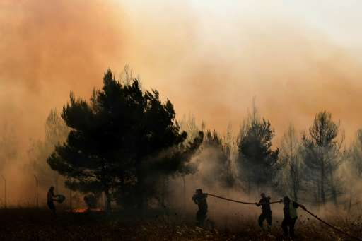 Greece is asking Europe for four CL-415-type water bombers to help tackle its forest fires