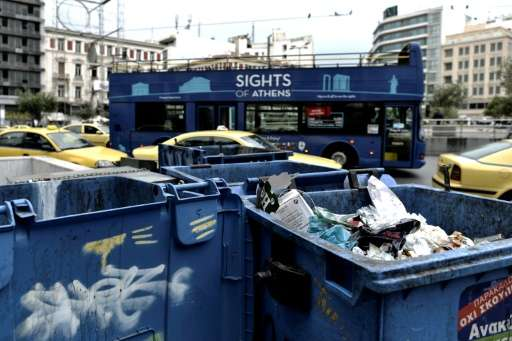 Greek households recycle only 16 percent of their waste, well short of the European average and nowhere near EU targets
