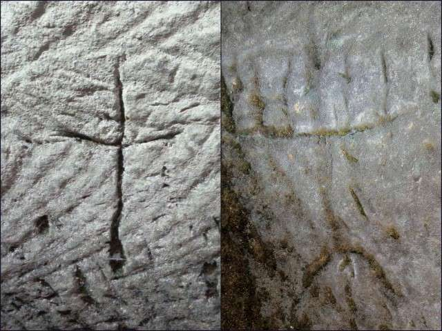 Hikers discover menorah and cross etched into cave walls in Israel