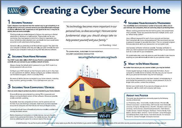 How to create a cyber secure home