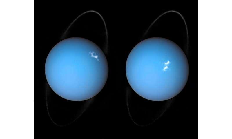 Hubble spots auroras on Uranus